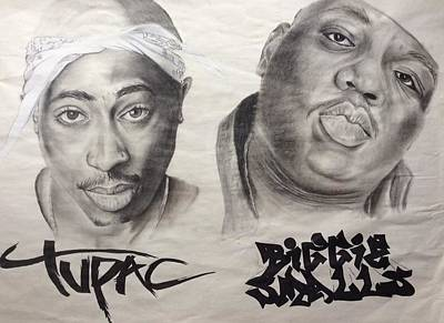 Hip Drawing - Legends by Ashley Williams