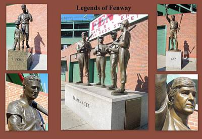 Photograph - Legends Of Fenway by Caroline Stella