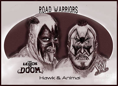 Legion Of Doom- The Road Warriors Art Print by Chris  DelVecchio