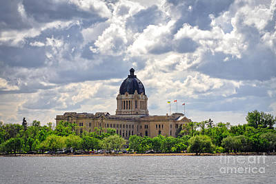 Photograph - Sask Legislative Building by Charline Xia