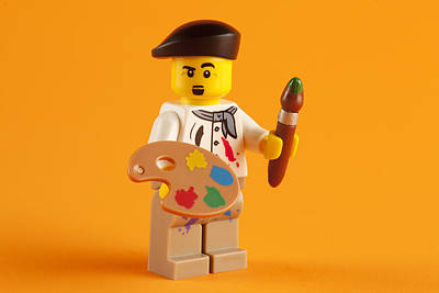 Painter Photograph - Lego Artist by Samuel Whitton