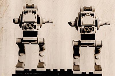 Lego Star Wars Digital Art - Lego At-st by Michael Golden