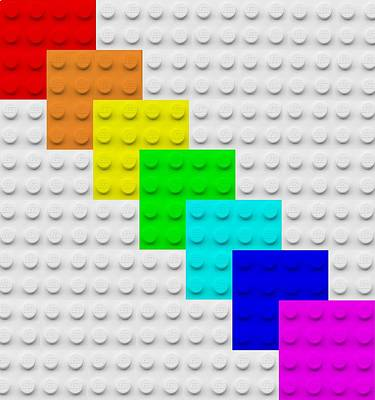 Photograph - Lego Boxes White by Rob Hans