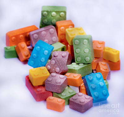 Lego Candy Blocks Art Print
