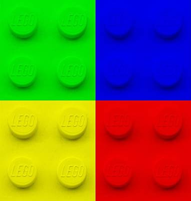 Photograph - Lego Colors by Rob Hans