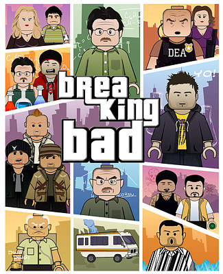 Lego Gta Mashup Breaking Bad  Art Print