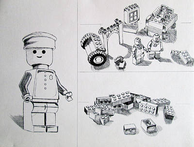 Lego Drawing - Lego Life by Caitlin Mitchell