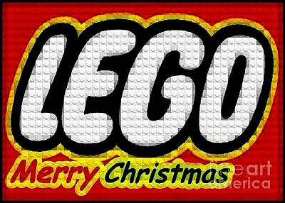 Lego Merry Christmas  Art Print by Scott Allison