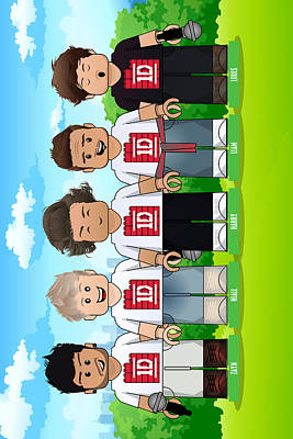 Niall Digital Art - Lego One Direction 1d by Akyanyme