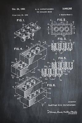 Lego Patent 1961 Art Print