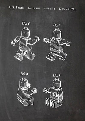 Digital Art - Lego Patent Drawing by Art Photography