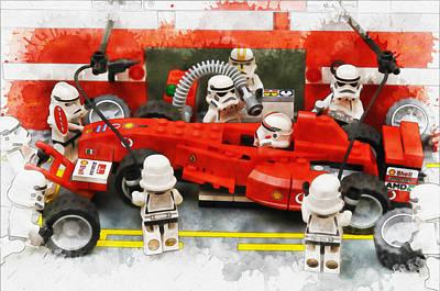 Lego Pit Stop Art Print