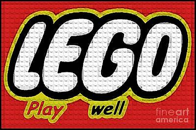 Lego Play Well Art Print by Scott Allison