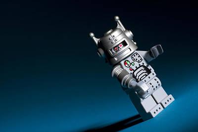 Lego Minifigure Photograph - Lego Robot by Samuel Whitton
