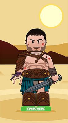Starz Digital Art - Lego Spartacus Blood And Sand by Akyanyme