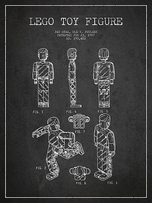 Lego Toy Figure Patent - Dark Art Print