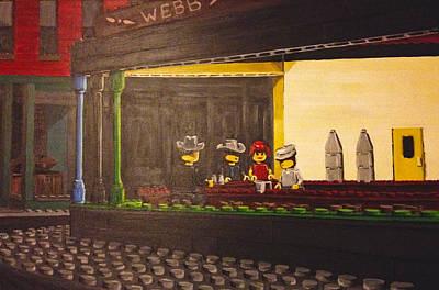 Legohawks Art Print by Patrick Webb
