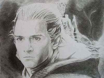 Orlando Bloom Drawing - Legolas Greenleaf  by Emily Maynard