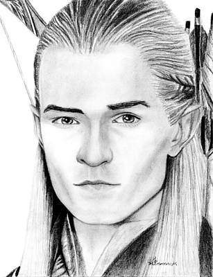 Orlando Bloom Drawing - Legolas Greenleaf by Kayleigh Semeniuk