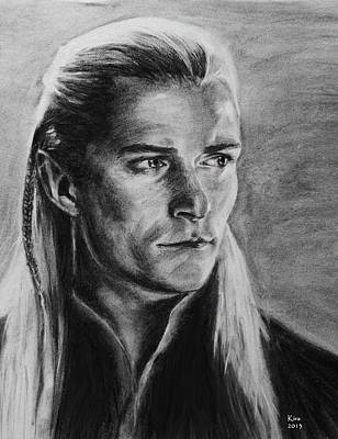 Orlando Bloom Drawing - Legolas by Kira Rubtsova