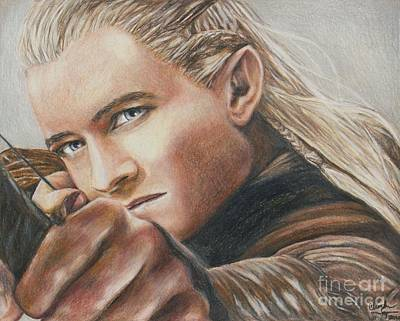 Orlando Bloom Drawing - Legolas / Orlando Bloom by Christine Jepsen