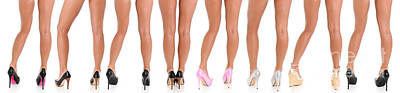 Stiletto Heel Photograph - Legs And Heels by Jt PhotoDesign