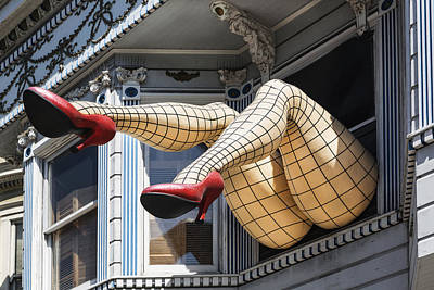 Photograph - Legs Art In Hairght-ashbury District In San Francisco by Carol M Highsmith