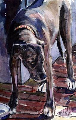 Brindle Painting - Legs by Molly Poole