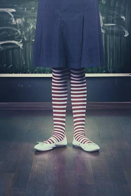 Legs Of A Schoolgirl Art Print