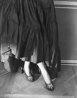 Applique Photograph - Legs Of Carroll Boissevain Wearing Faille Pumps by Horst P. Horst