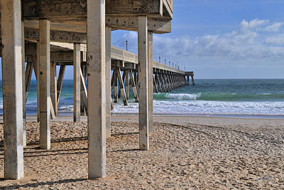 Photograph - Legs Of The Concrete Pier by Paulette B Wright