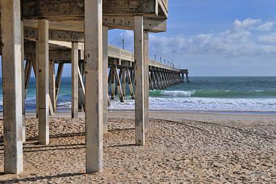 Photograph - Legs Of The Concrete Pier by Paulette B Wright