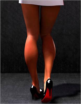 Art Print featuring the digital art Legs... by Tim Fillingim