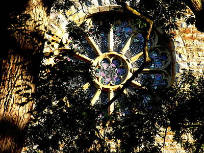 Photograph - Lehigh University Bethlehem Packer Memorial Chapel Window by Jacqueline M Lewis