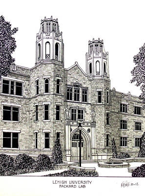 Lehigh University Art Print