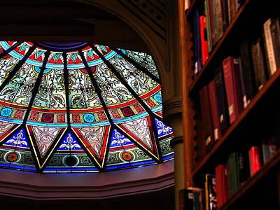 Photograph - Lehigh University Linderman Library Books by Jacqueline M Lewis