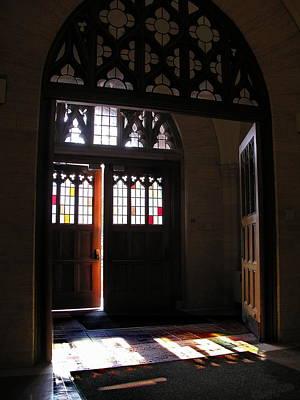 Photograph - Lehigh University Linderman Library Entrance by Jacqueline M Lewis