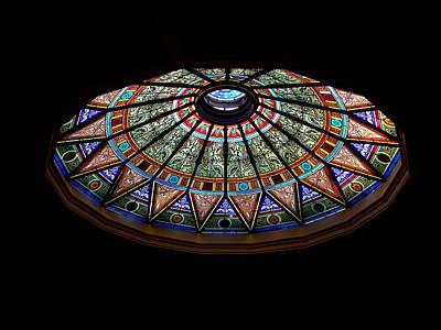 Photograph - Lehigh University Linderman Library Rotunda Window by Jacqueline M Lewis
