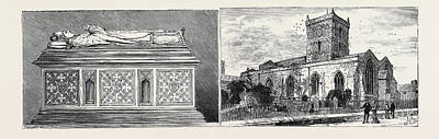 Leicester Bishop Pennys Tomb In St. Margarets Church Left St Art Print by English School