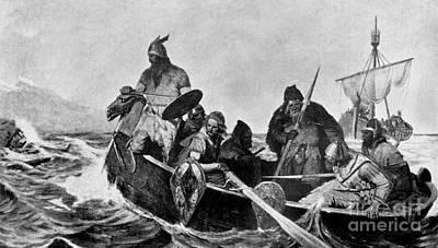 Norsemen Photograph - Leif Ericson Norse Explorer by Photo Researchers