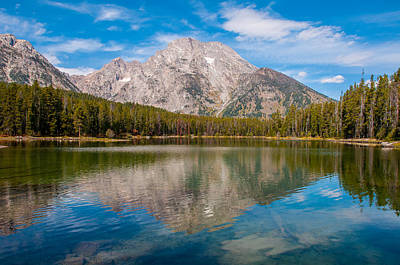 Photograph - Leigh Lake Trail Mount Moran by Brenda Jacobs