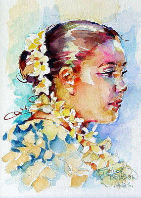 Hawaii Hula Dancer Painting - Leilani by Penny Taylor-Beardow