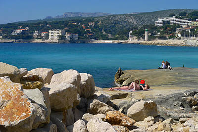 Leisure In Cassis Art Print