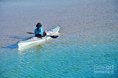 Leisure On The Lake Art Print by Kaye Menner