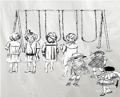 Drawing - Leisure Time At Boarding School by Belinda Threeths