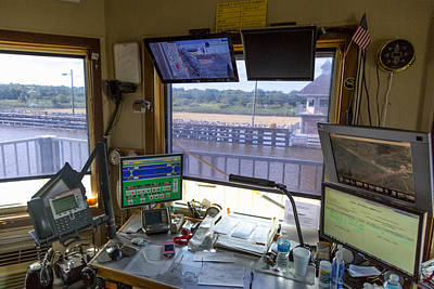Art Print featuring the photograph Leland Bowman Locks Control Room by Gregory Daley  PPSA