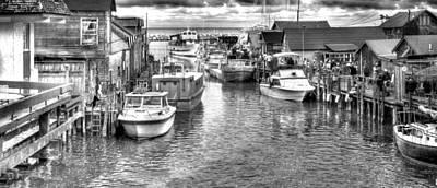 Leland Michigan Photograph - Leland Michigan Black And White Print by Twenty Two North Photography