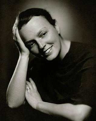 Hand On Head Photograph - Lelia Roosevelt Denis by Ben Pinchot