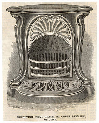 Grate Drawing - Lemaires Revolving Stove-grate by  Illustrated London News Ltd/Mar