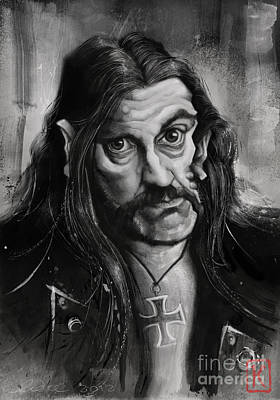 Lemmy Drawing - Lemmy by Andre Koekemoer